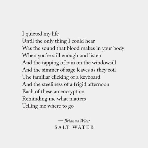 Salt Water Poetry Collection