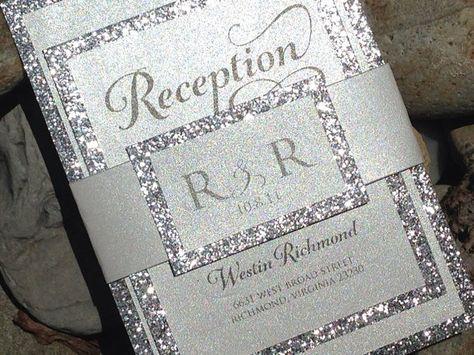 Hey, I found this really awesome Etsy listing at https://www.etsy.com/listing/165424519/glitter-wedding-invitation-glitter