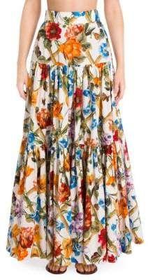 3f0105c83ac744 Look at this #zulilyfind! Black & White Floral Maxi Skirt - Women ...