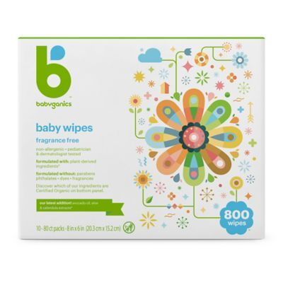 Babyganics Fragrance Free 800 Count Face Hand And Baby Wipes In