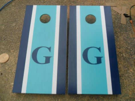 8 ACA Regulation Bags Chic Turquoise Custom Personalized Family Name Stained Cornhole Boards Regulation Size Game Set Baggo Bean Bag Toss
