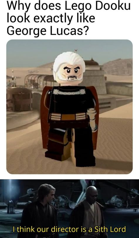 Simbolos Star Wars, Star Wars Jokes, Star Wars Facts, Star Wars Comics, Lego Star Wars, Really Funny Memes, Stupid Funny Memes, Prequel Memes, High Ground
