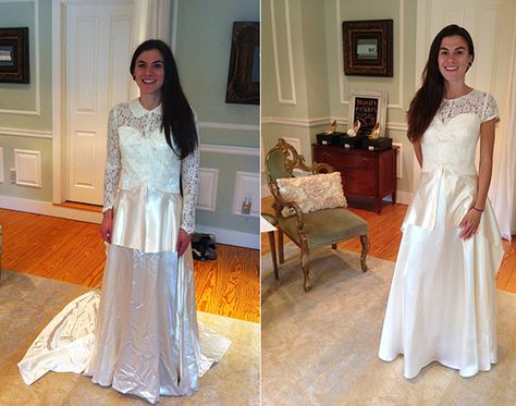 You may have heard of our fantastic service, Reinvent The Dress, where our expert in-house seamstress takes a vintage family heirloom and creates a modern masterpiece that fits both your shape and style.