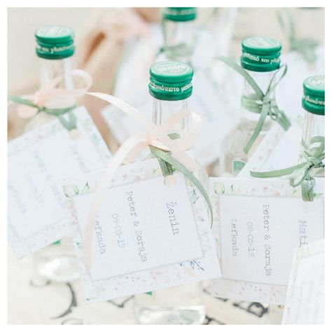 "Add some Opa! to the celebration with a miniature ouzo wedding favours gift for your guests to toast or take home…"" Greek island destination wedding favours #weddingfavors By Lefkas Weddings with Maxeen Kim Photography"