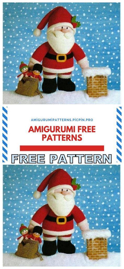crochet santa claus pattern free , ravelry | Papa noël crochet ... | 1026x474