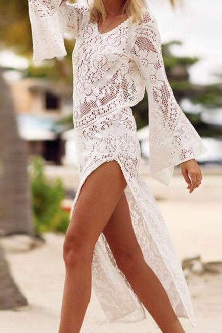 Lace Beach Dress Coverup White 19 Lace Maxi Dress Lace Outfit Lace Beach Dress