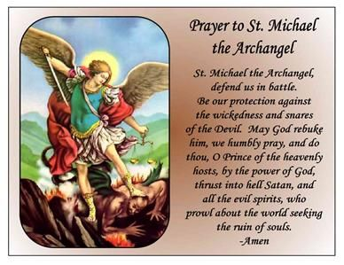 graphic about St. Michael the Archangel Prayer Printable referred to as Pinterest