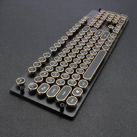 Steam Punk Typewriter Keyboard Caps