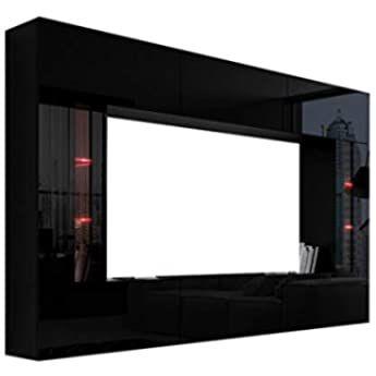 Homedirectltd Future 29 Moderne Wohnwand Exklusive Mediamöbel Tv Schrank Schrankwand Tv Element Anbauwand Neue Ga Schrankwand Led Beleuchtung Medien Möbel