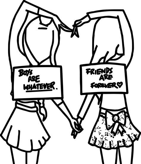 Coloring Pages For Girls Best Coloring Pages For Kids Cute Easy Drawings Drawings Of Friends Bff Drawings