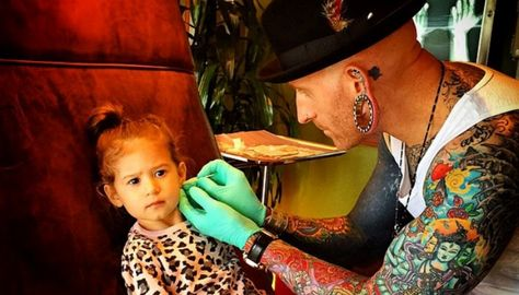 A Tattoo Shop Is The Best And Coolest Place To Pierce Your Kid S Ears Kids Ear Piercing Baby Ear Piercing Ear Piercings