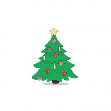 Cartoon Christmas Tree Icon Vector Illustration Can Use For New Stock Ad Tree Christmas Cartoon Icon Cartoon Christmas Tree Tree Icon Christmas