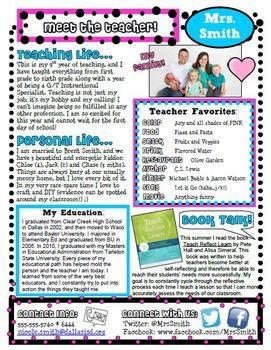 meet the teacher free template carolina teacher welcome letters and kindergarten assessments free meet the teacher free template