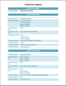 meeting agenda templates word