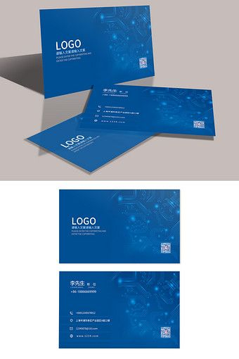 Simple And Blue Post Telecommunications Business Card Design Psd Free Download Pikbest Business Card Design Name Card Design Card Design