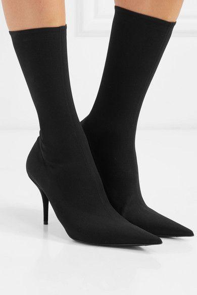 Black Knife spandex sock boots