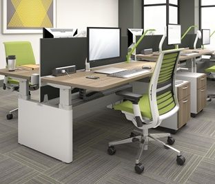 Series Height Adjustable Office Benches U0026 Tables | Office Furniture, Bench  And Office Spaces