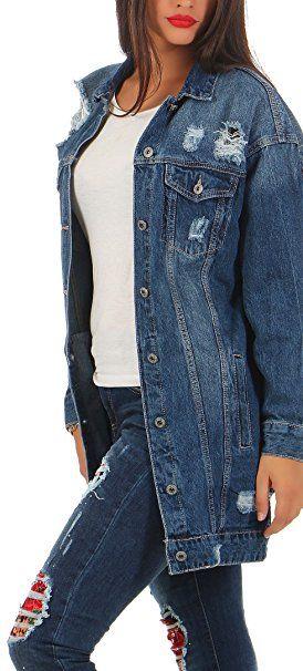 separation shoes 85531 1733b jeansjacke damen patches