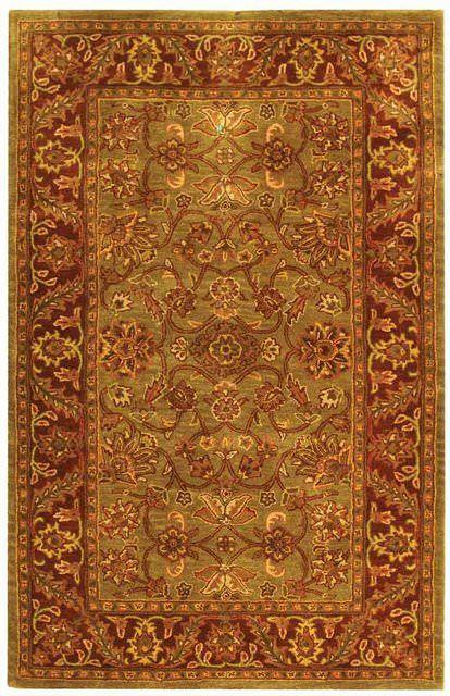 Safavieh Golden Jaipur Gj250a Green Rust Area Rug Clearance