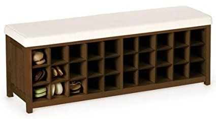 Mission Style 30 Pair Shoe Storage Bench 30 Pair Chestnut Diy Storage Bench Bench With Shoe Storage Shoe Storage Bench Diy
