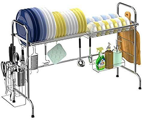 Over The Sink Dish Drying Rack Veckle Large Dish Rack Stainless