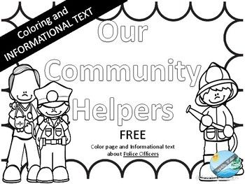Community Helper Police Officer Coloring Pages And Informational Text Informational Text Community Helper Community Helpers Police