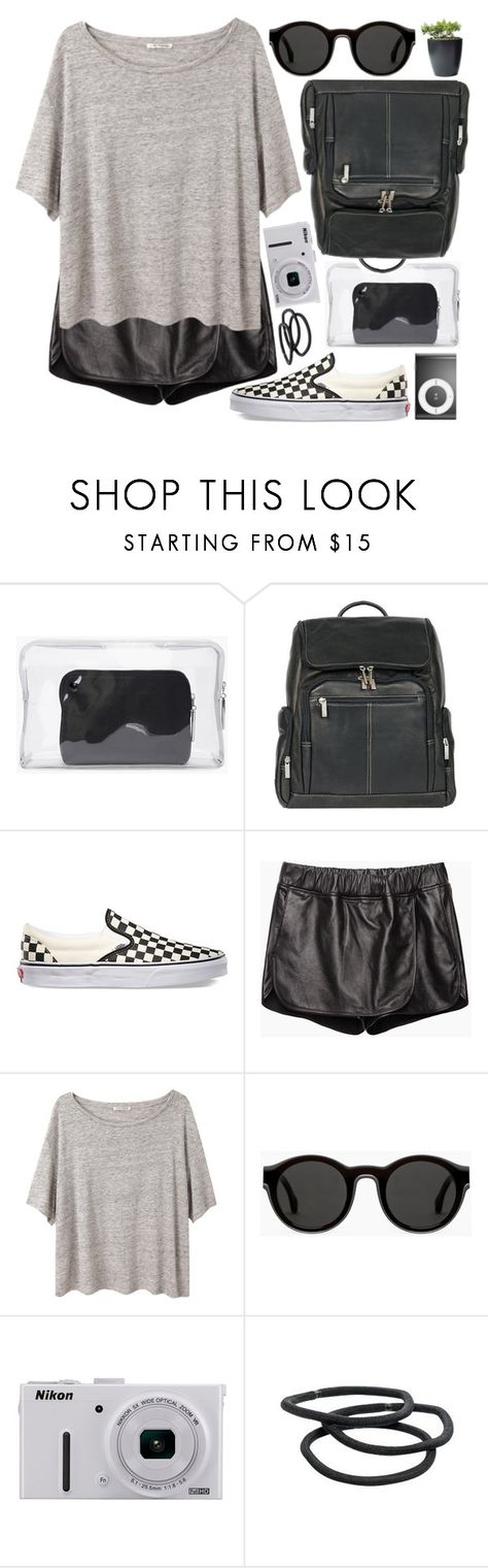 """Be someone, not something"" by alexandra-provenzano ❤ liked on Polyvore featuring 3.1 Phillip Lim, Le Donne, Vans, Hope, Acne Studios, Mykita, Nikon and Goody"