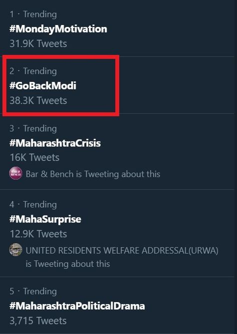 Why is #GoBackModi trending on Twitter today?