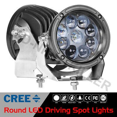 2x 5 5 90w Cree Round Led Driving Spot Lights Off Road Headlight Lamp Truck 12v Ebay Work Lamp Led Cree Led