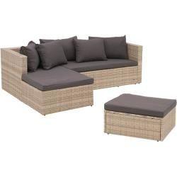 Outliv Basel Loungeecke 3 Teilig Aluminium Geflecht Antikweiss Dunkelgrau Outli 1000 In 2020 Outdoor Wicker Furniture Outdoor Sectional Sofa Wicker Furniture