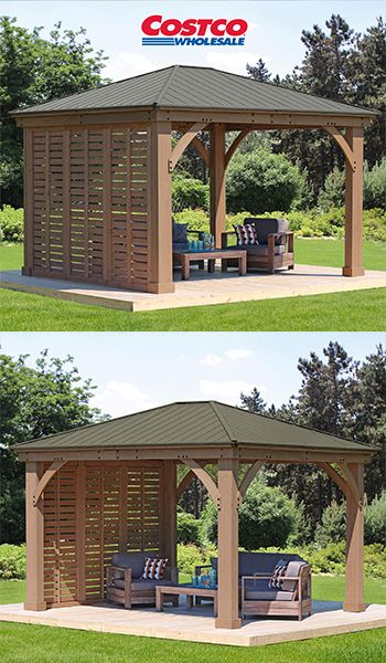 12 Gazebo Privacy Wall Outdoor Pergola Patio Gazebo Backyard