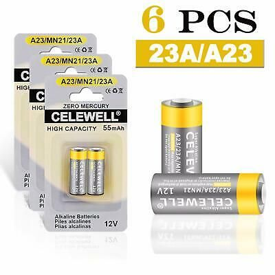 Ad Ebay Link 6 Count A23 Battery 12v Special High Capacity 55mah Same As 23a 23ae L1028 Mn21 Garage Doors A23 Battery Garage Door Opener