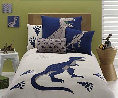 Lelva Dinosaur Pattern Bedding Sets Cartoon Bedding Kids Bedding