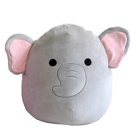 Squishmallow Plush Elephant 16 Inch 1 Ea Elephant Plush Elephant Plush Toy Animal Pillows