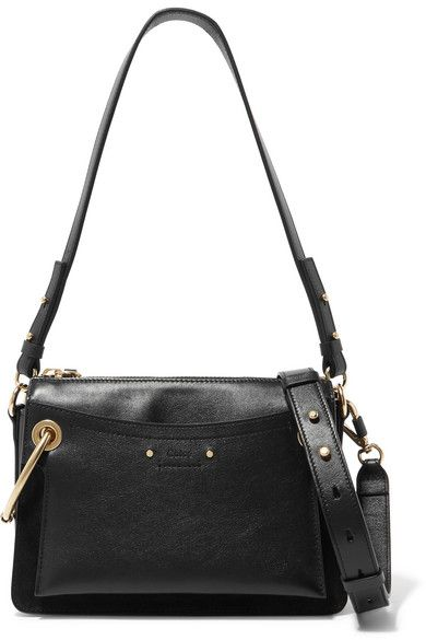Chloé - Roy small leather and suede shoulder bag