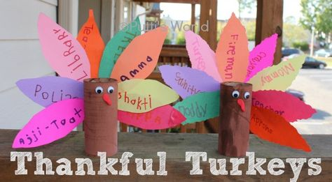 Thankful Turkeys are not just fun to make, but it makes the kids to think about things they are thankful for.