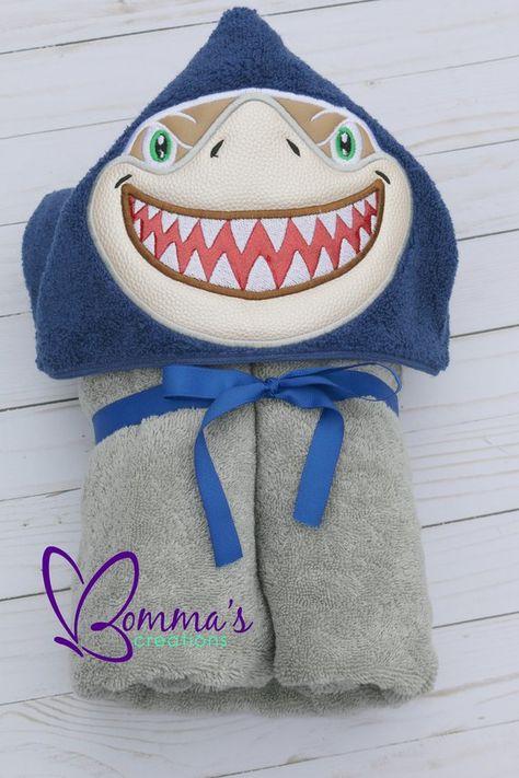 e71b2c537c Shark Hooded Bath Towel, Shark Hooded Beach Towel, Shark Cover up Pool  Towel, Gift for Teenager, Gif