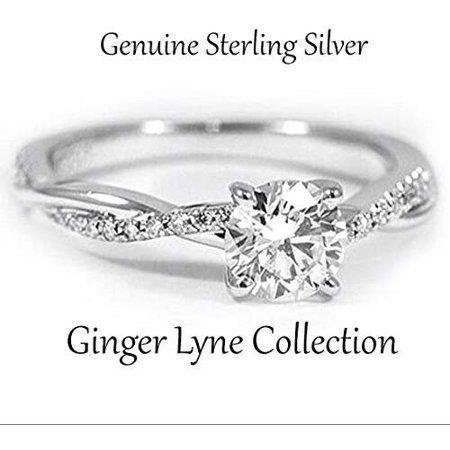 Ginger Lyne Collection Queena Twisted Engagement Ring Sterling Silver Cz Womens Ginger Lyne Walmart Com In 2020 Engagement Rings Twisted Engagement Rings Sterling Engagement Rings