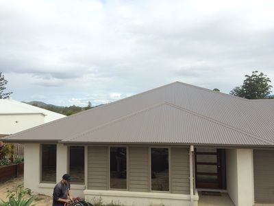 Colorbond Roof Replacement In Jasper Upper Coomera Qld Master Roofing Australia Colorbond Roof House Exterior Color Schemes Outdoor House Colors