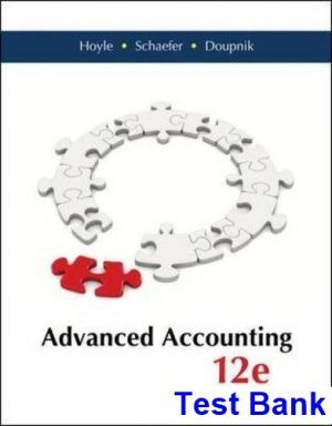 Pin On Advanced Accounting 12th Edition Hoyle Test Bank