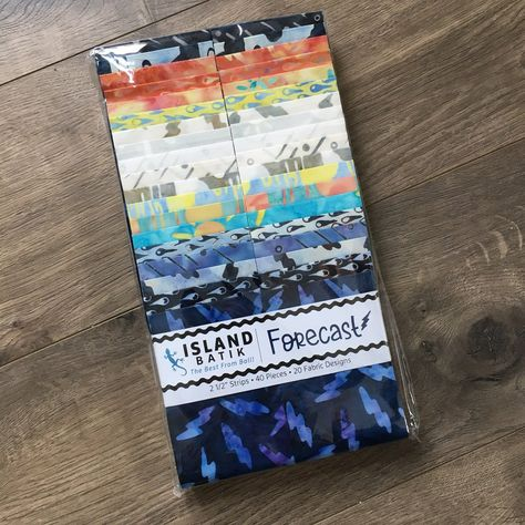 Island Batik Strip Pack, Forecast, Multicolored, 20 Fabrics and 40 Strips