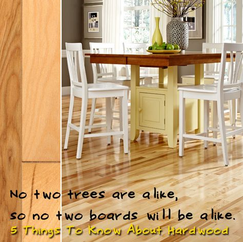 Your floor will not always look exactly like the sample. Wood floors are like snowflakes - no two are alike! A small sample could never fully represent your completed floor.  [5 Things to Know About Hardwood]