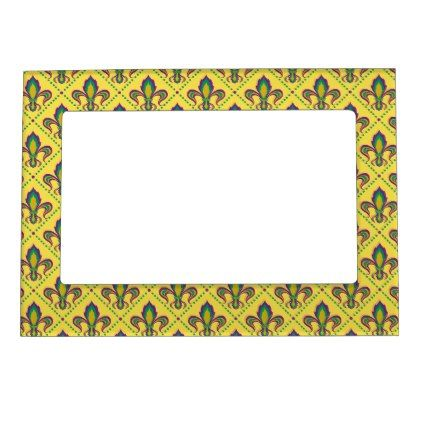 Mardi Gras Fleur De Lis Magnetic Photo Frame - home gifts ideas ...