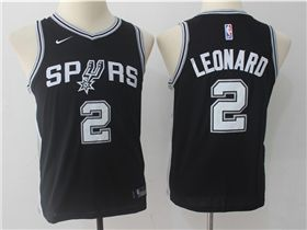 San Antonio Spurs  2 Kawhi Leonard Youth Black Swingman Jersey ... 8c8c78814