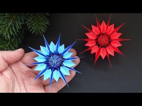 Origami Paper Stars   Tutorial - YouTube   355x473