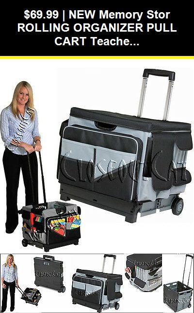 New Memory Stor Rolling Organizer Pull Cart Teacher Office File Tool Storage Bag 763960528426 Ebay Teacher Office Craft Cart Pull Cart