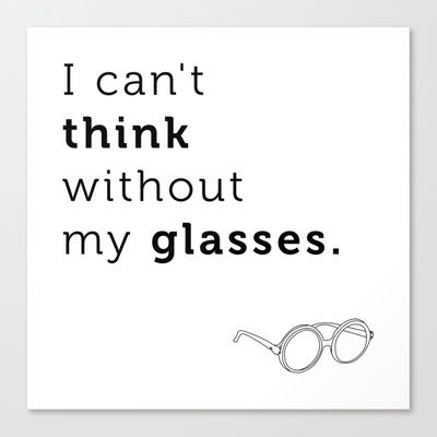 I can't think without my glasses Canvas Print by Stephen Gibbs
