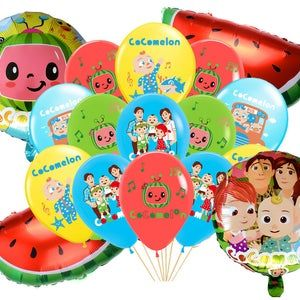 happy birthday celebration birthday party decoration balloons Red 5 cocomelon latex balloons party supplies