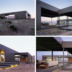 Modern Prefab House In Desert Hot Springs Prefab Homes Desert Homes Modern Prefab Homes
