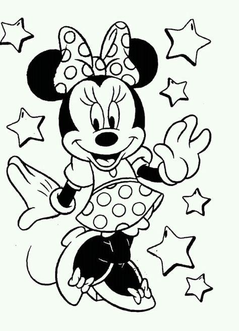 Imagem De Desenhos Por Simone Mone Cores Disney Minnie Desenho